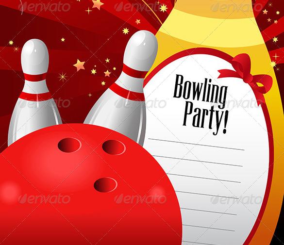 ten pin bowling invite