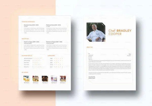 Resume Format For Chef Free Download