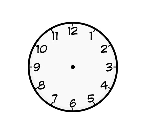 9+ Printable Clock Templates