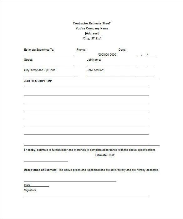 Champlain College Publishing  Job Sheet Template Free Download