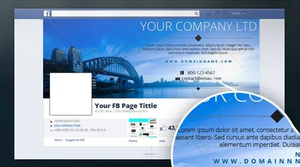 18 Amazing PSD Facebook Timeline Cover Templates