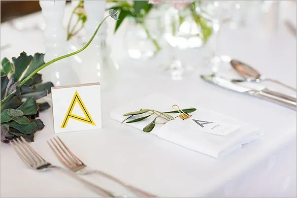 Wedding Place Card Templates Free For Word - Wedding Invitation Sample