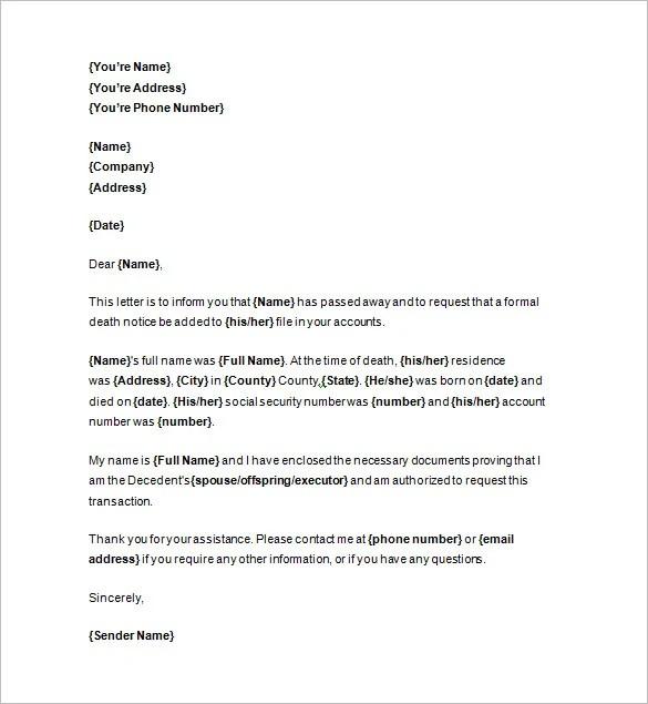 Death Notices  35 Free Printable Word Excel PDF Format Download  Free  Premium Templates