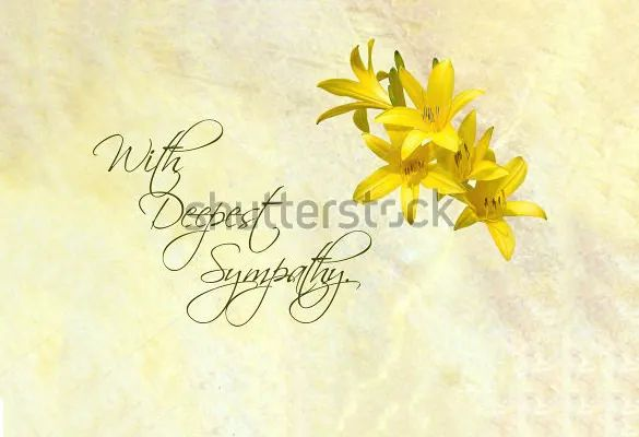 word for sympathy card