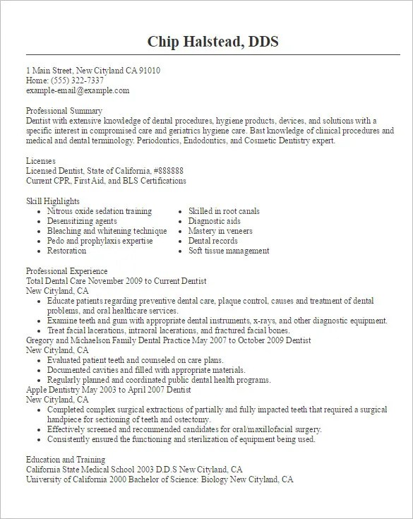 Doctor Resume Templates – 15 Free Samples Examples