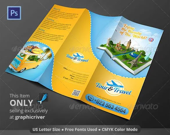 45 Travel Brochure Templates PSD AI Free & Premium
