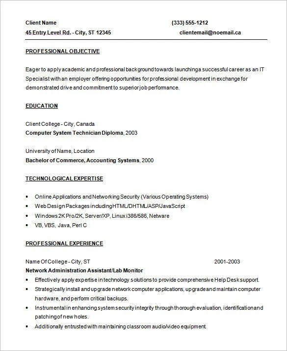 programmer resume template word