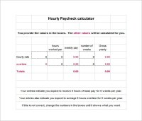 8+ Hourly Paycheck Calculator - DOC, Excel, PDF   Free ...