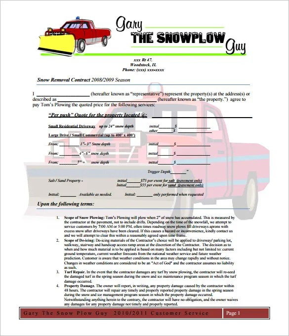 snow removal bid template - April.onthemarch.co