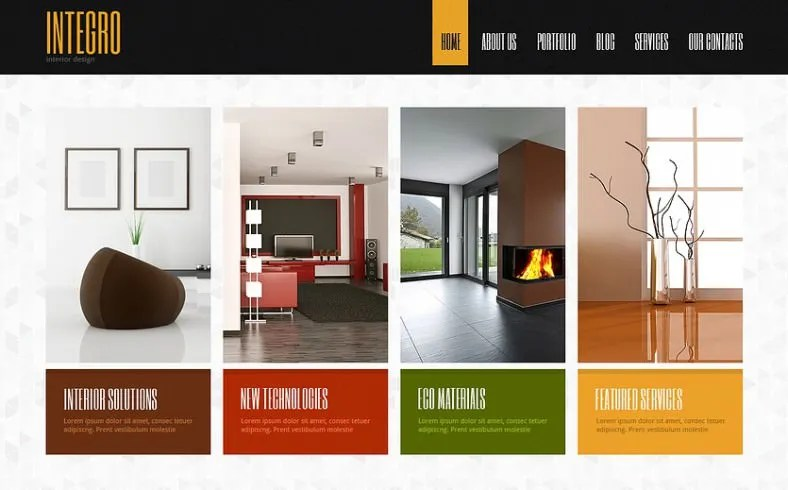 Free interior design template joomla for Best furniture sites