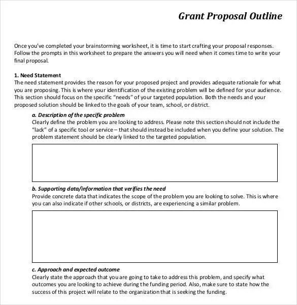 37 Grant Proposal Templates DOC PDF Pages Free