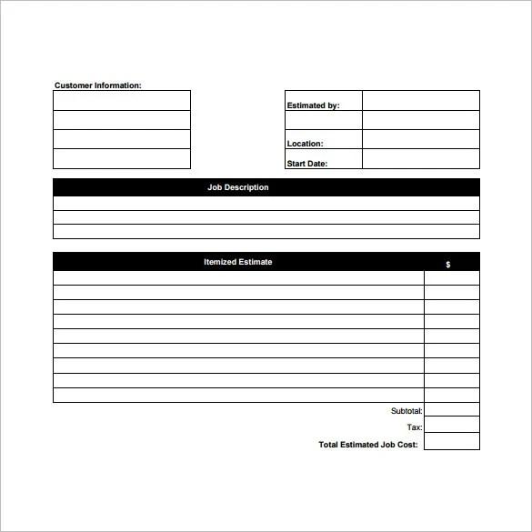job estimate sheet - April.onthemarch.co