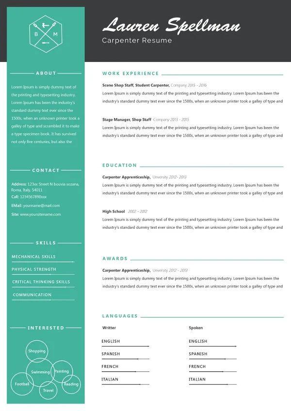 resume examples download pdf