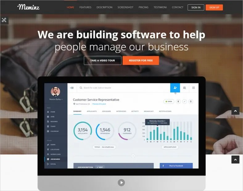 7 New Software Landing Page Templates Free Amp Premium Templates