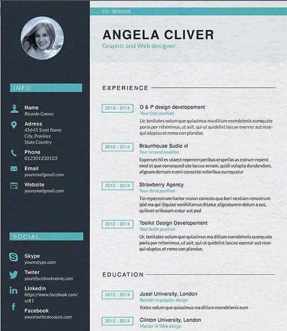 graphic design resume template graphic designer resume template - Resume Templates For Graphic Designers