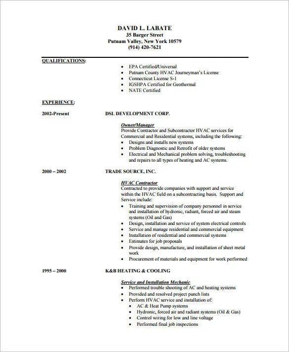 very concise resume sample pdf