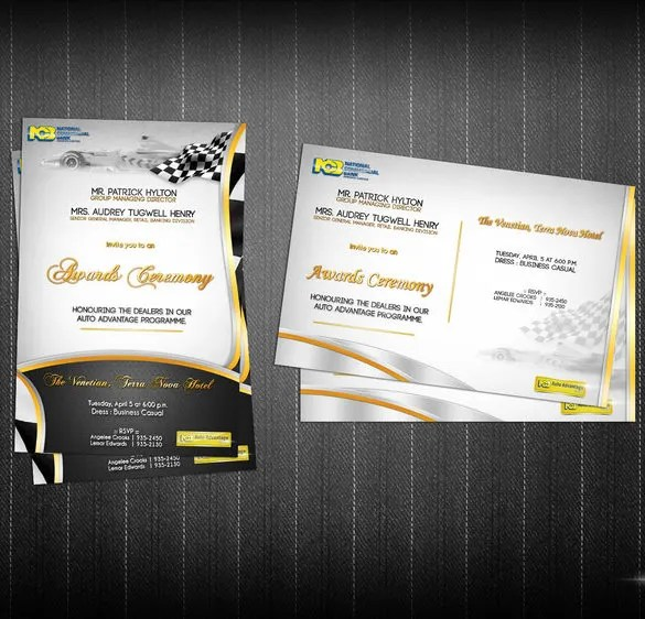 11 Glorious Award Ceremony Invitation Templates Free & Premium