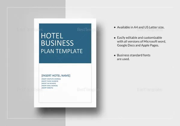 16 Hotel Business Plan Templates PDF Google Docs MS