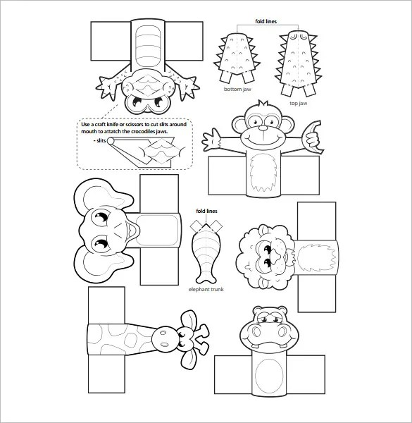 printable puppet templates family finger puppets free
