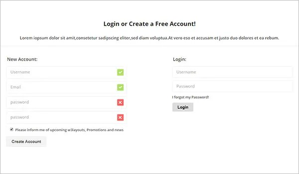 19+ HTML5 Signup & Registration Forms