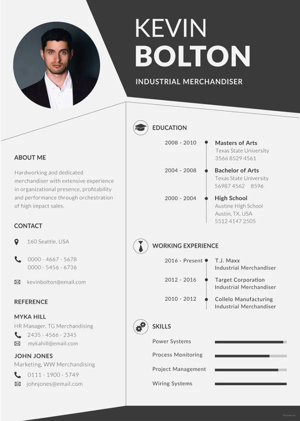 resume template free download word format