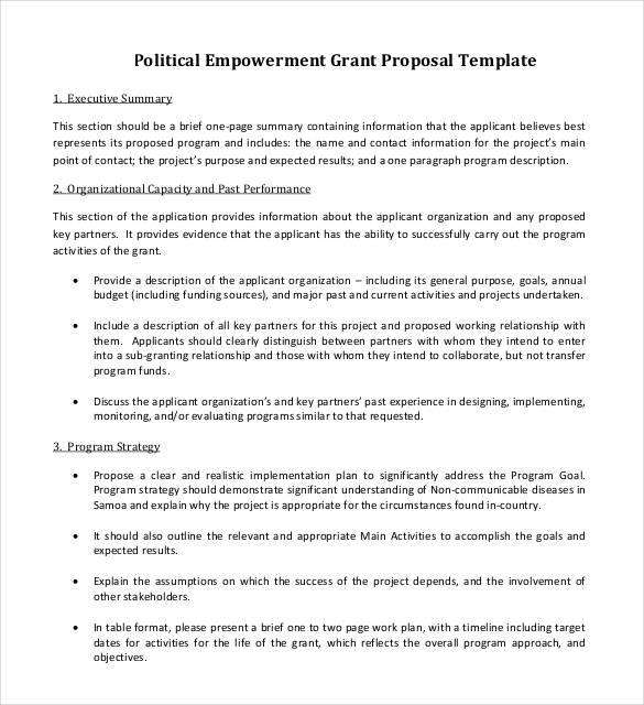37 Grant Proposal Templates DOC PDF Pages Free & Premium