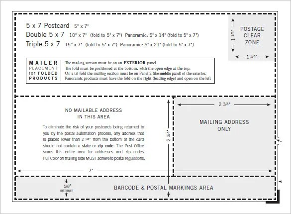 6 5x7 envelope templates