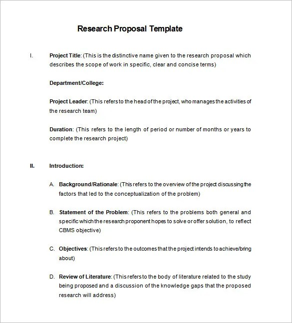 Research Essay Proposal Sample Cover Letter Example Of Proposal