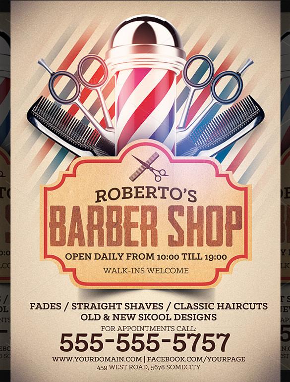20 Best Barbershop Flyer Template & Design Free & Premium Templates