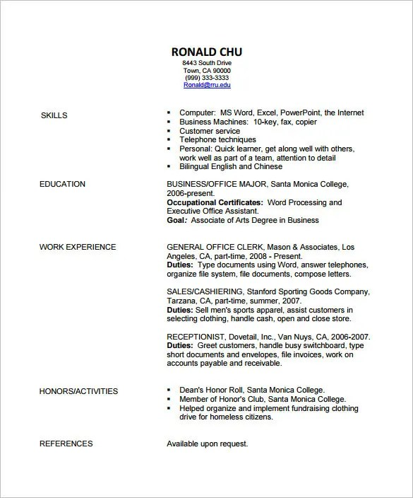 Fashion Designer Resume Template – 9 Free Samples Examples