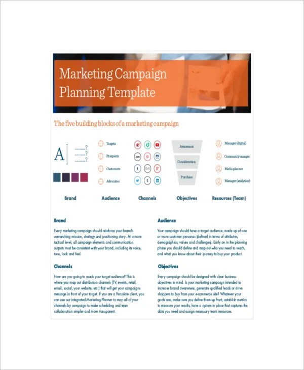 10 Marketing Campaign Templates Free Sample Example