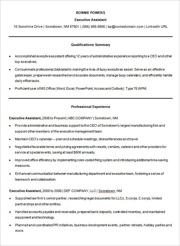 14 Microsoft Resume Templates – Free Samples Examples & Format