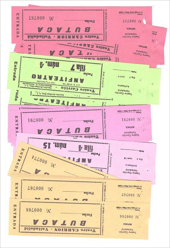 raffle ticket template excel