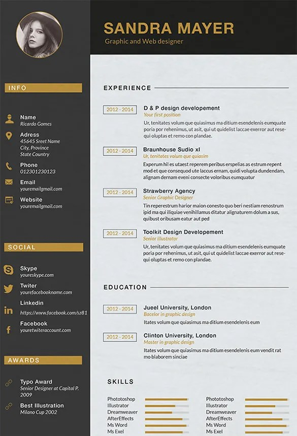 interior design cv template word