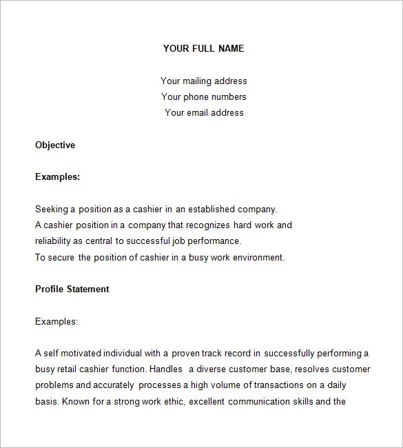 Cashier Resume Cashier Resume Examples 2015 With The Right