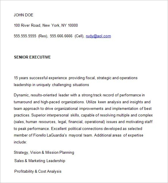 Examples Of Ceo Resumes  Examples Of Resumes