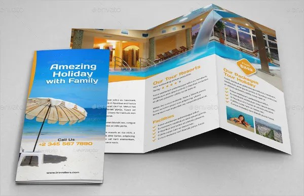Resort Brochure Template 14 Free PSD AI EPS Vector Format