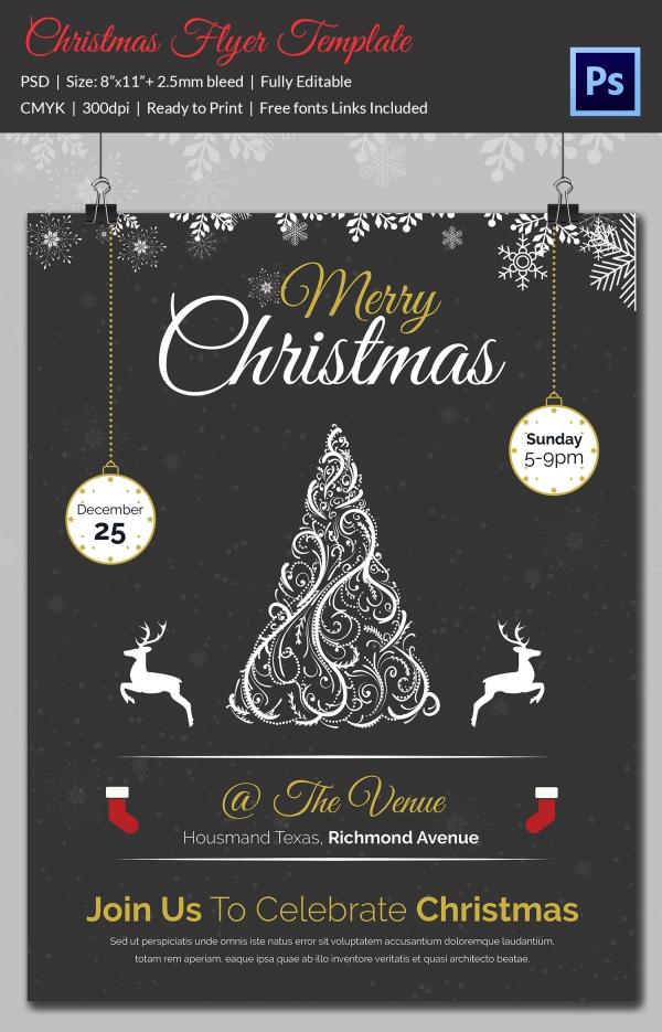 60 Christmas Flyer Templates Free PSD AI Illustrator Doc Format Download Free Premium