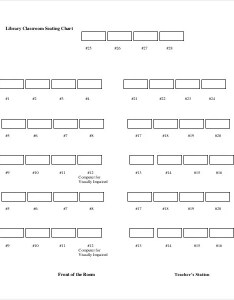 Blank library classroom seating chart also template examples in pdf word excel rh