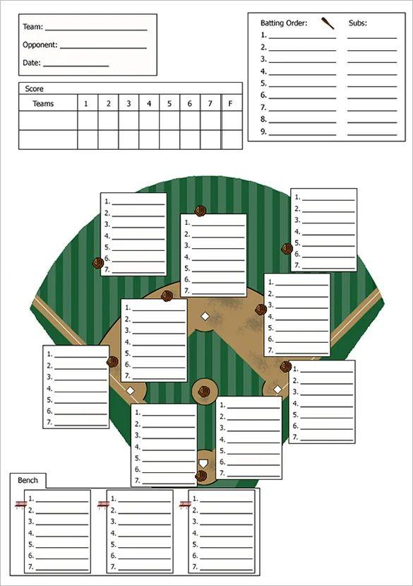 baseball lineup template excel