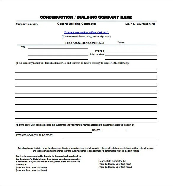 Use signeasy's free bid proposal template instead of starting from scratch. 19 Free Construction Proposal Templates Word Pdf Excel Google Docs Apple Pages Free Premium Templates
