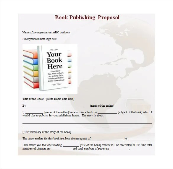 Book Proposal Template 16 Free Sample Example Format