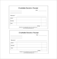 Donation Receipt Template - 12+ Free Word, Excel, PDF ...