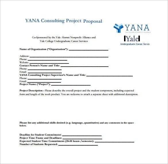 Consulting Proposal Template 20 Free Word PDF Format