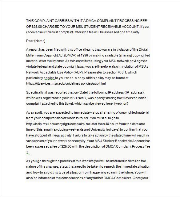 Dmca Letter  Docoments Ojazlink