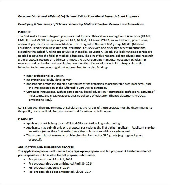 Grant Proposal Template 19 Free Sample Example Format Download