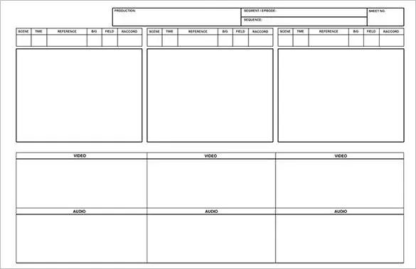 storyboard word document
