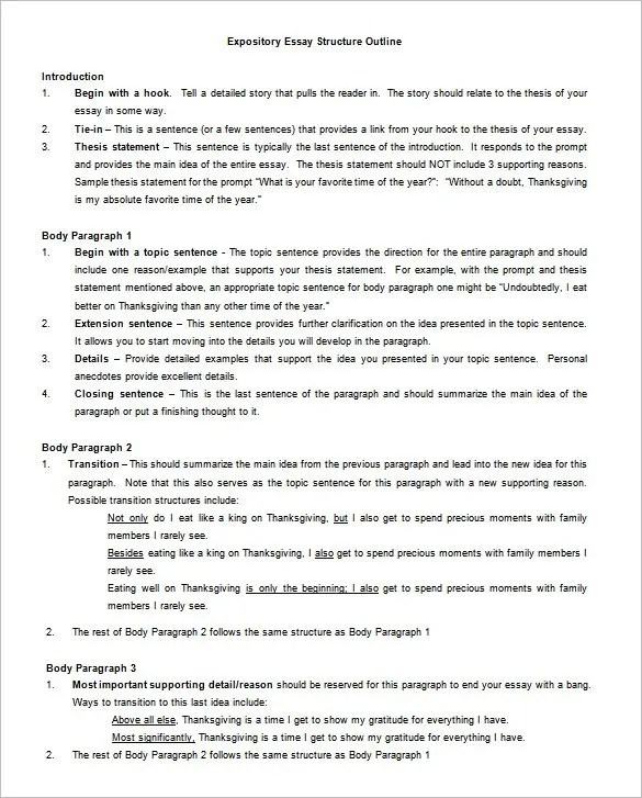 Outline To An Essay Outline Essay Persuasive Outline Template