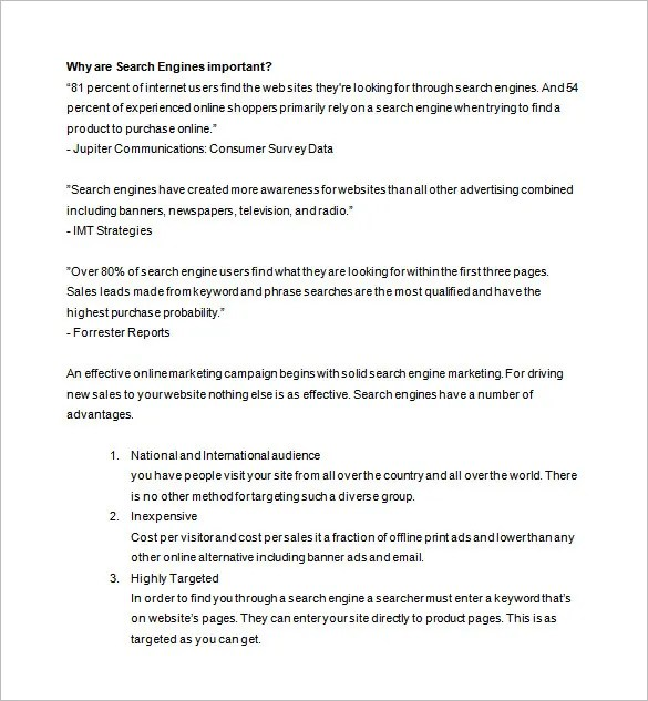 Marketing Proposal Template 34 Free Sample Example