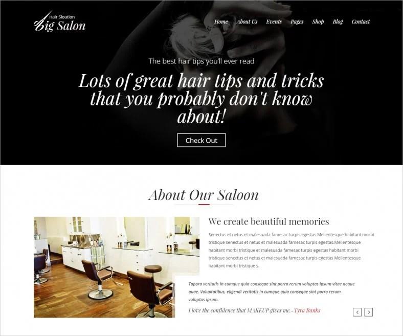 Barber Shop Website Templates  Themes  Free  Premium